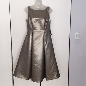Adrianna Papell Sleeveless V-Back Tea length dress